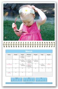 Print monthly calendars. Print pictures yourself and add it to the calendar to create a perfect gift.