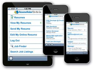 Continue your job search On-the-Go! Search for jobs and send your resume with mobile devices.