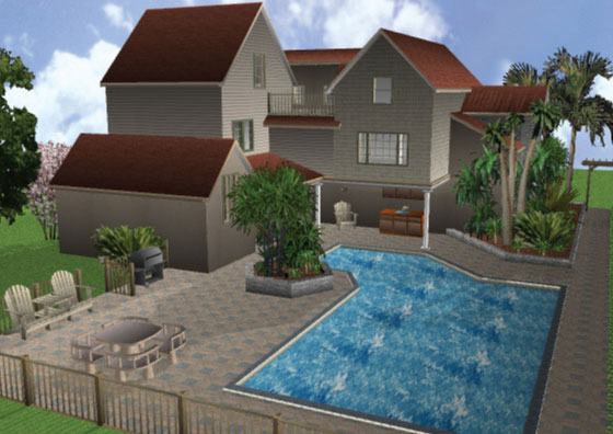 3D Home Architect Landscape Design V9 Software