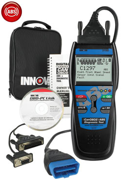 The Equus Innova CanOBD2 3150 ABS + Diagnostic Code ScannerTool kit