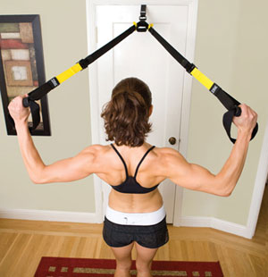 The TRX Suspension Trainer uses your body weight to create resistance. & TRX Suspension Training Pro Pack Basic (The TRX door anchor is sold ...