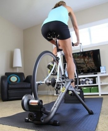 quickly turning your road bike into a stable indoor stationary bike