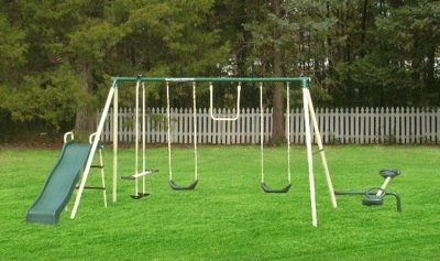 the ground anchor kit secures any flexible flyer swing set to the ground - Metal Swing Frame