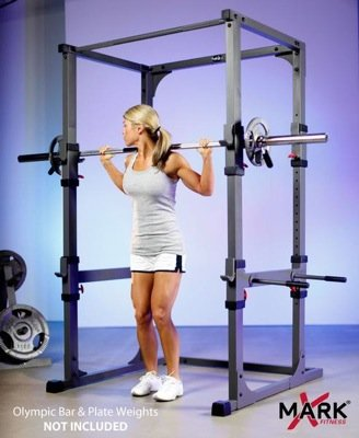 The xmark power cage xm 4430 offers great stability with for Squat station