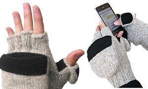 Ragg wool glove with heat pack