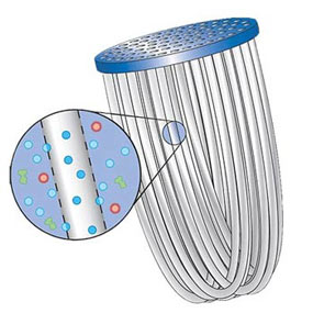 illustration of filter microtubes