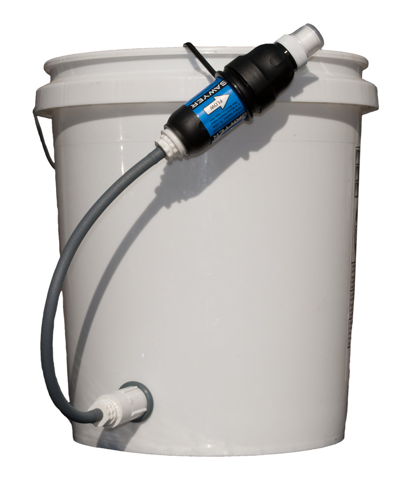 Sawyer pointone emergency water filtration kit with 1 for Kit filtration
