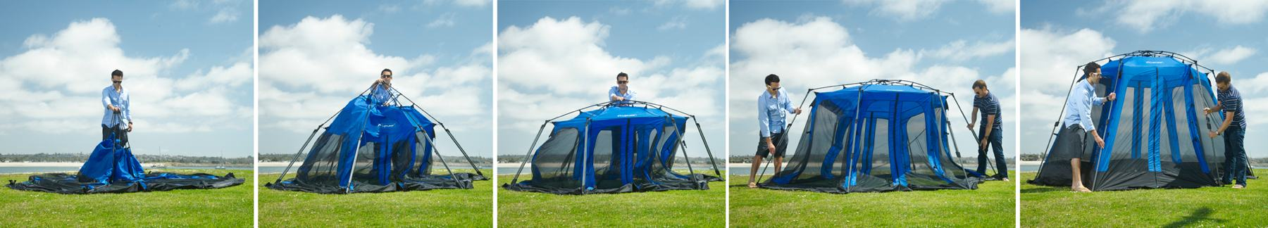 Amazon.com : Lightspeed Outdoors Screen House Pop Up Canopy, Blue ...