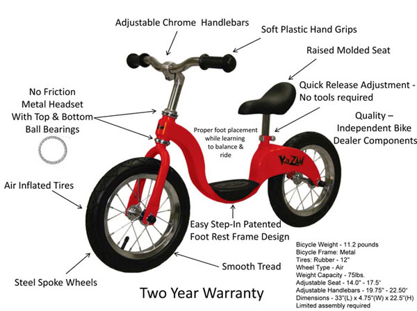 Bike Parts For A Kids Bike KaZAM Balance Bike as the