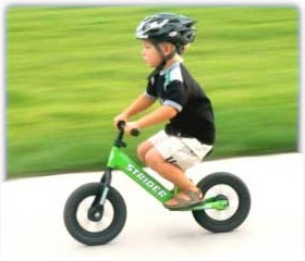 Bikes For Kids Without Pedals The Strider takes pedaling out