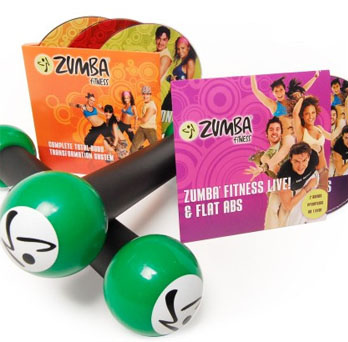 The Zumba Fitness Total Body Transformation System includes four DVDs