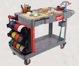 Cart with wire-spool attachment
