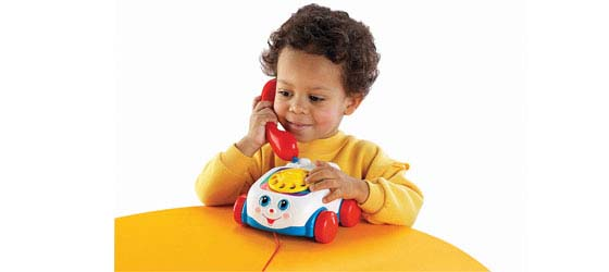 Child and phone