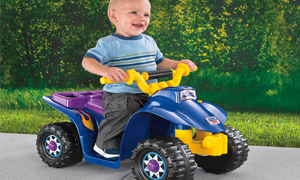 power wheels battery operated quad for 1 3 year old children free shipping ebay. Black Bedroom Furniture Sets. Home Design Ideas