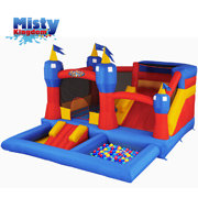 Misty Kingdom inflatable Bounce House with Slide and Ball Pit by Blast Zone