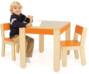Little One's Table & Chairs, Orange