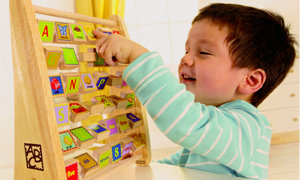 Child With Abacus