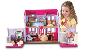 Girl and house expanded