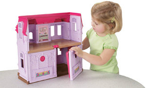 Girl and house folded up