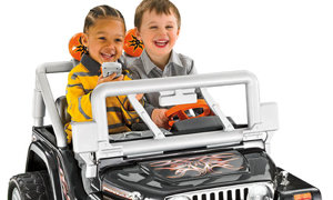 Kids in the Jeep