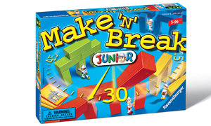 Be the first to create the structure on the building cards with your own set of wooden blocks.
