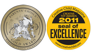 Parent's Choice Gold Award and Creative Child Magazine Seal of Excellence.