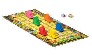 High-quality preschool game with real wooden pieces.