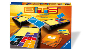 In BITS, players try to build a grid of shapes and colors.
