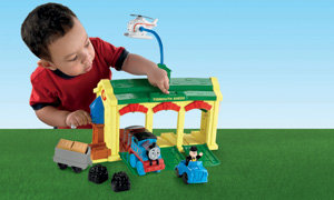 Child and playset