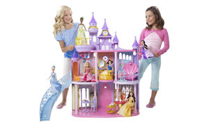 Detailed Princess Castle with Dolls