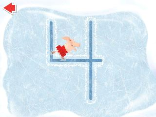 Trace shapes and numbers as you glide across the ice!