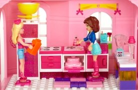 Mega Bloks Barbie Fashion Boutique Barbie Doll House Like Lego Barbie and Teresa in the