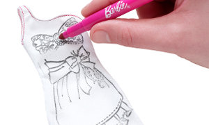 drawing on dress