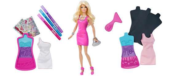 How To Use Barbie Fashion Design Plates Use the Barbie fashion plates