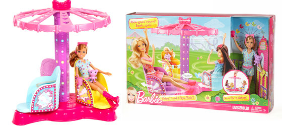 Buy Barbie Sisters Twirl And Spin Ride Playset Online At