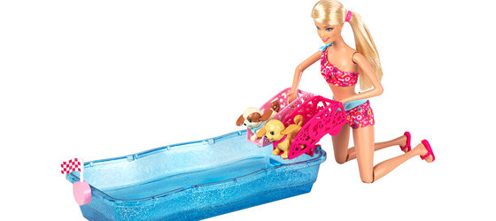 how to make a barbie swimming pool
