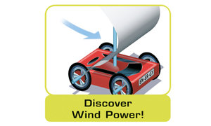 Build a sail-car run by wind power!