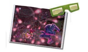 Experience the thrill of 3D with Mike and Sulley.