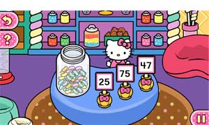 Use estimation skills to pack up goodies at the bakery and guess how many jelly beans are in the jar.