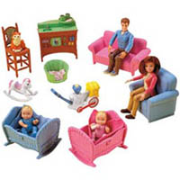 fisher price loving family twin time dollhouse toys games. Black Bedroom Furniture Sets. Home Design Ideas