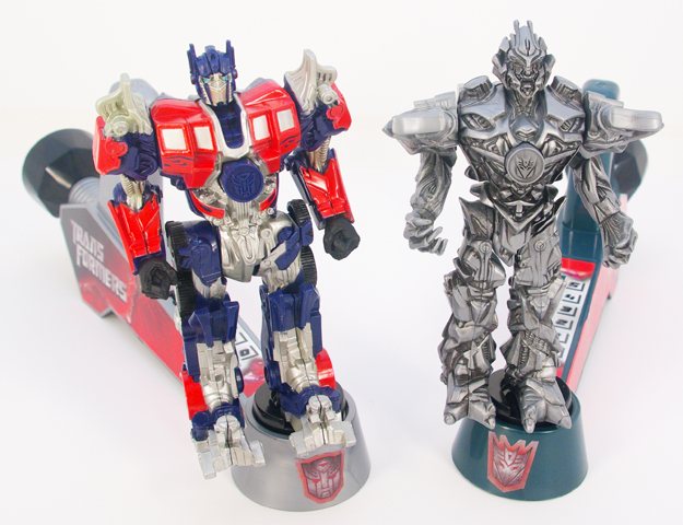 Optimus Prime and Megatron are modeled after the characters from the