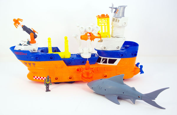 Shark Ship Toy : Matchbox mega rig building systems shark ship and