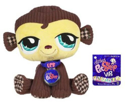 Look Hot Toys: Stuffed Animals: Littlest Pet Shop VIP Monkey :  littlest pet shop monkey stuffed animals