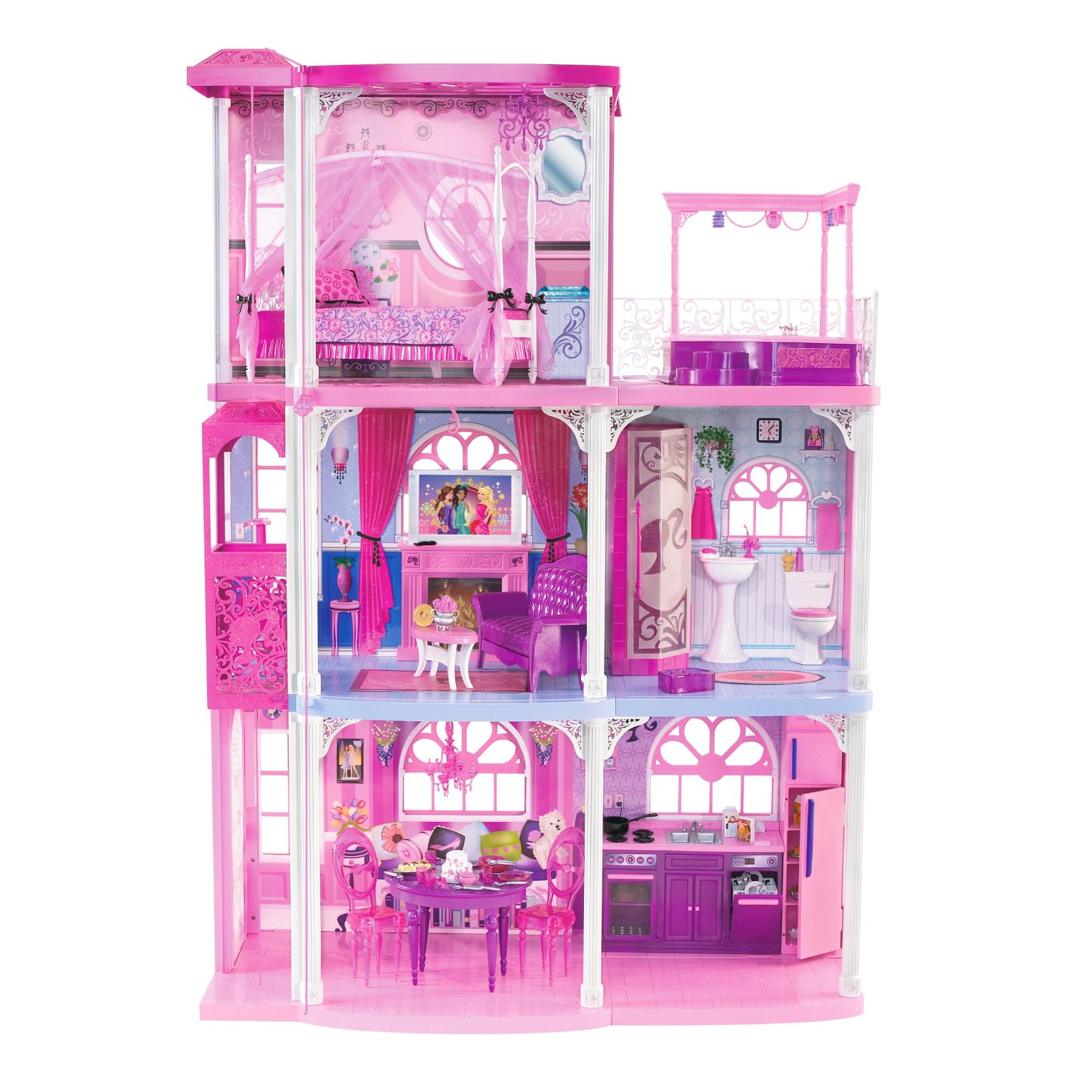Barbie pink 3 story dream townhouse toys games - Maison de reve barbie ...
