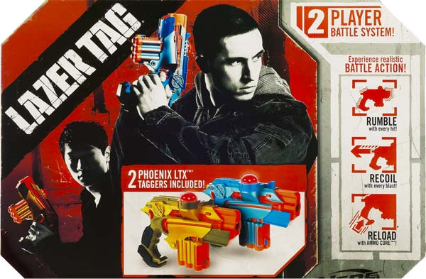 Dynasty Family Games Laser Tag Set and Carrying Case - Blue/White Laser Tag  Blasters