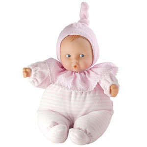 Cushiony soft-body doll is perfect for ages birth and up. View larger