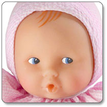 Corolle Babicorolle Babipouce Pink Striped Doll Product Shot
