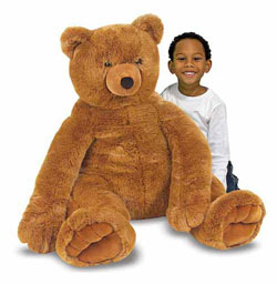 Melissa and Doug Jumbo Brown Teddy Bear