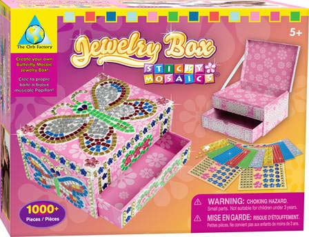 Dazzling mosaic jewelry box holds all those precious treasures. View ...