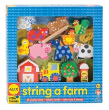 Alex Toys Wooden Stringing Sets - String a Farm